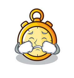 Crying chronometer character cartoon style vector