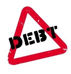 Debt rubber stamp vector