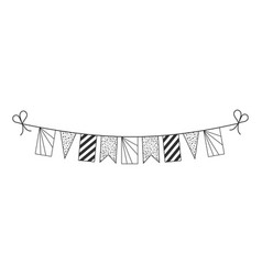 Decorations bunting flags for seychelles national vector