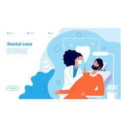 Dental care clinic concept oral health and vector