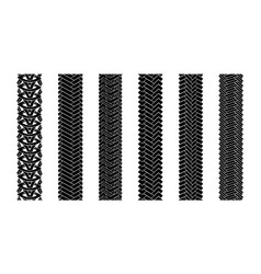 editable tire tracks texture collection seamless vector image