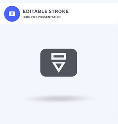 eject icon filled flat sign solid vector image