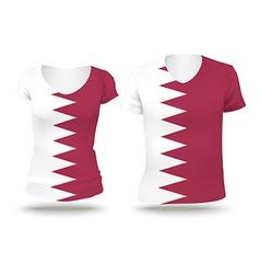 Flag shirt design of Quatar vector image
