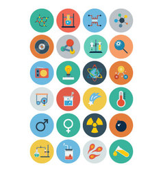 Flat Science and Technology Icons 2 vector image