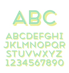 Font grotesque 3d inline normal vector