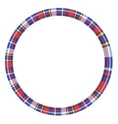frame vintage pattern design tartan plaid texture vector image