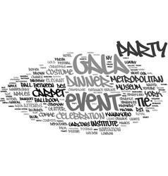 Gala word cloud concept vector