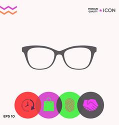 Glasses icon symbol vector