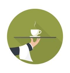 Green tea on a tray vector