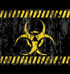 Grunge biohazard sign background vector