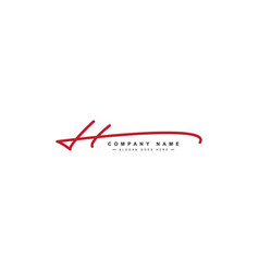 H letter signature logo - handwritten logo vector