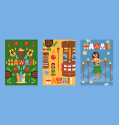 hawaii banner beach party vector image