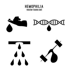 Hemophlia pictograms set vector