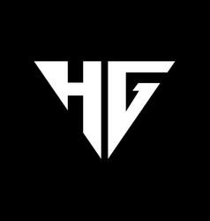 hg initial logo vector image