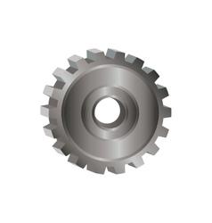 Isoalted gear design vector