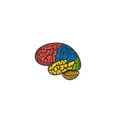 Isolated abstract colorful brain logo Human vector image