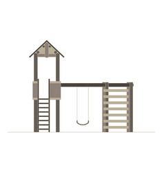 kids playground buildings for city construction vector image