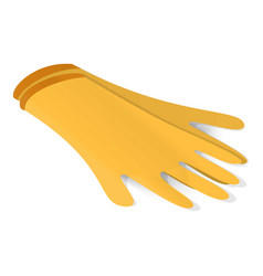 Latex gloves icon isometric style vector