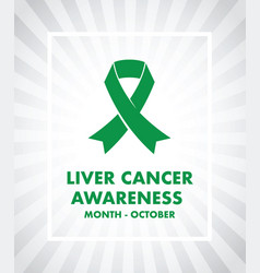 Liver cancer awareness vector