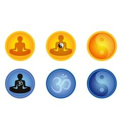 meditation signs vector image