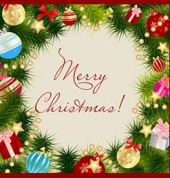 Merry Christmas Card Frame vector