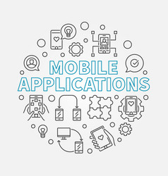 Mobile applications round in vector