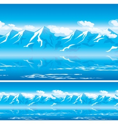 mountains in the sun vector image