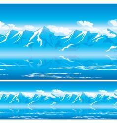 Mountains in the sun vector