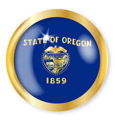 oregon flag button vector image