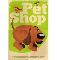 pet shop poster dog vector image vector image