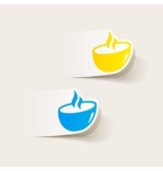 realistic design element dish vector image