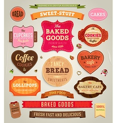 Retro Label Sets vector image