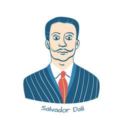 Salvador dali portrait vector