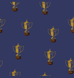 seamless pattern with cups on a dark blue vector image