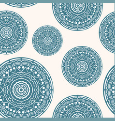 seamless pattern with curly circles paper craft vector image