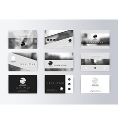 Set of business cards gray background Template vector image