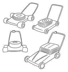 Set of mower vector
