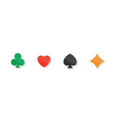 set of playing cards icon vector image