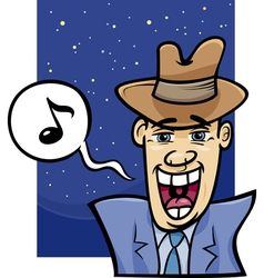 singing man cartoon vector image