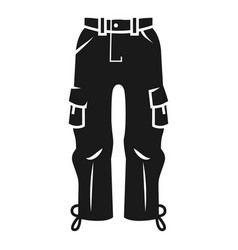 ski pants icon simple style vector image