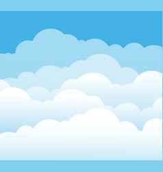 Sky and clouds cartoon cloudy background heaven vector