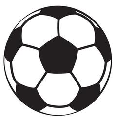 soccer ball black vector image