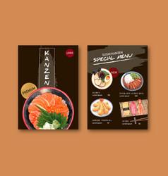 Special sushi menu collection design template vector
