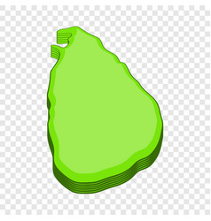 Sri lanka map icon cartoon style vector