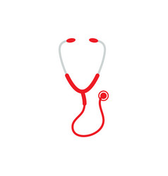 stethoscope icon design template isolated vector image