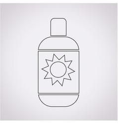 Sun cream icon vector