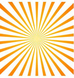 Sun rays orange background vector