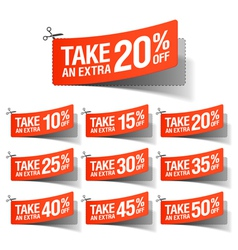 Take an Extra Sale coupons vector