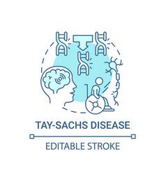 Tay sachs disease blue concept icon vector