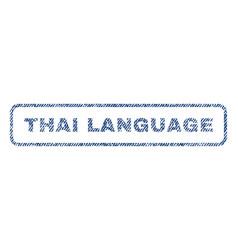 Thai language textile stamp vector